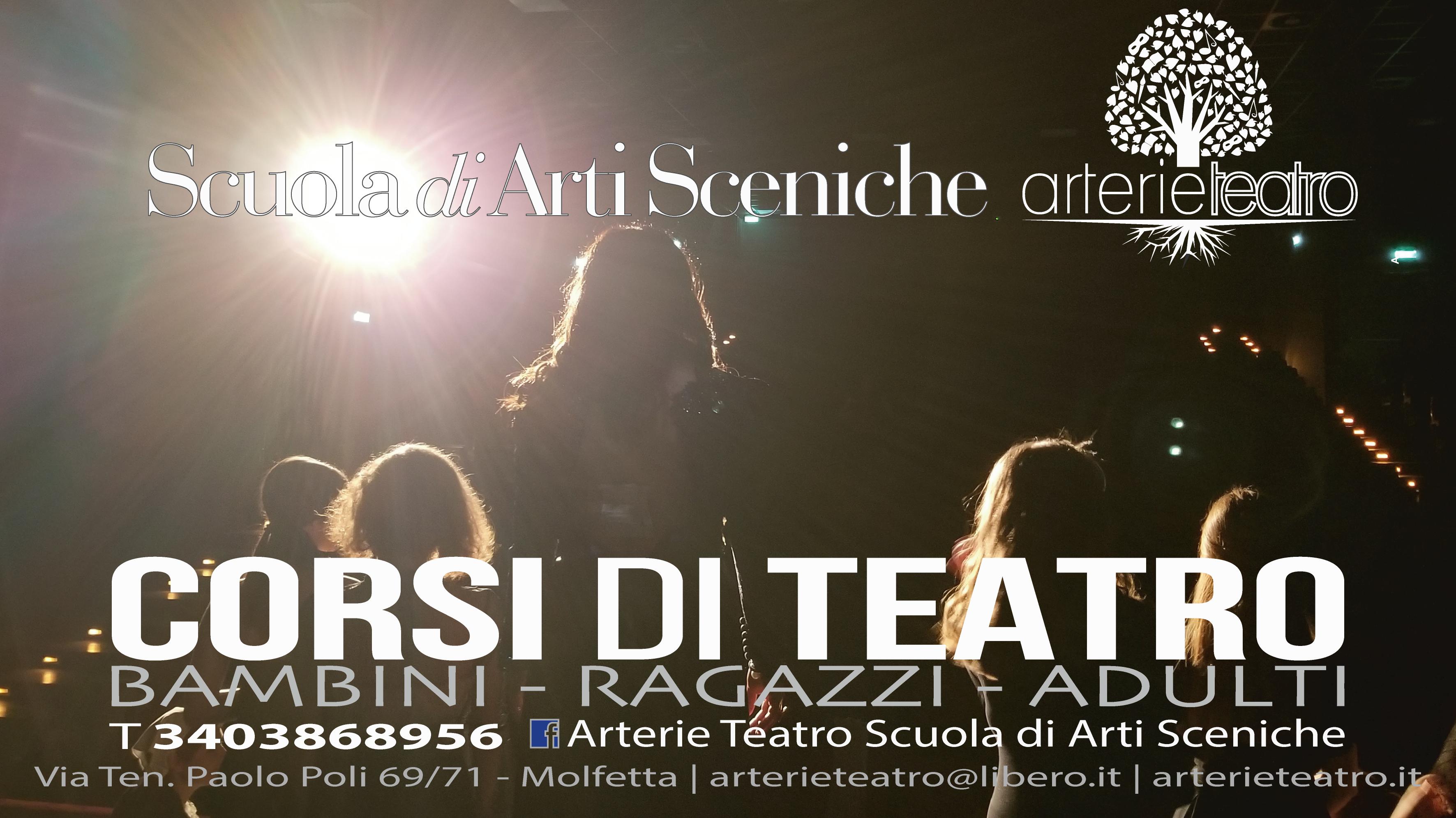 Corsi di teatro e laboratori Scuola di Arti Sceniche Arterie Teatro a Molfetta e Cerignola