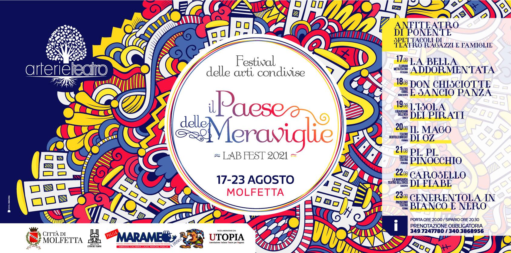 Il Paese delle Meraviglie 7^ ed. Marameo festival -2021-MOLFETTA - Arterie Teatro