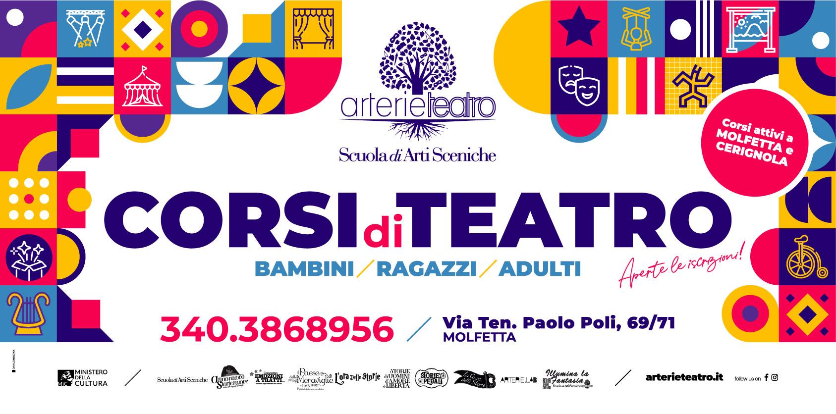 Arterie Teatro Scuola di Arti Sceniche - Corsi di Teatro a Molfetta e Cerignola 2021